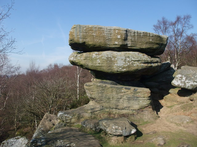 One of Brimham Rocks rocks