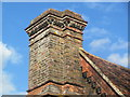 SP9908 : Chimney on the Caretaker's Lodge, Berkhamsted Castle by Chris Reynolds