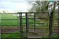 SP6811 : Kissing gate at Chilton House by Graham Horn