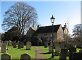 TL4164 : Oakington churchyard in March by John Sutton