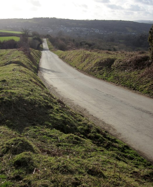 Road across Knowle Down