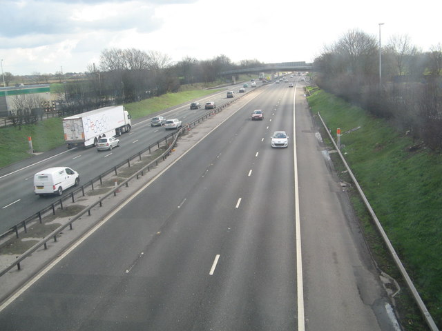 M6 looking south from Knutsford services
