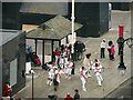 TQ8209 : Morris Dancers at Jerwood Gallery opening by Oast House Archive