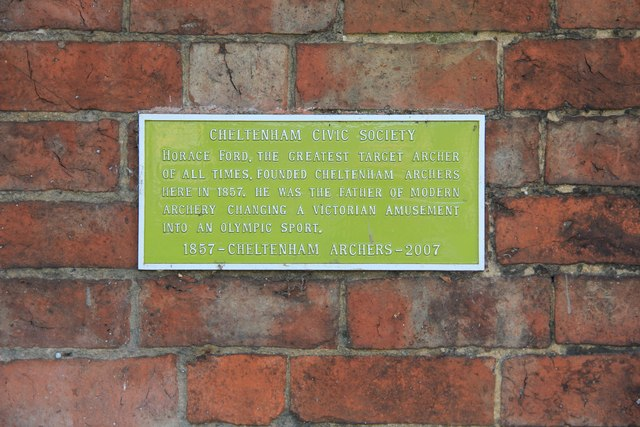 Plaque in Montpellier Gardens - Cheltenham Archers