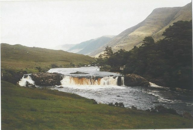 Aasleagh Falls in 1985