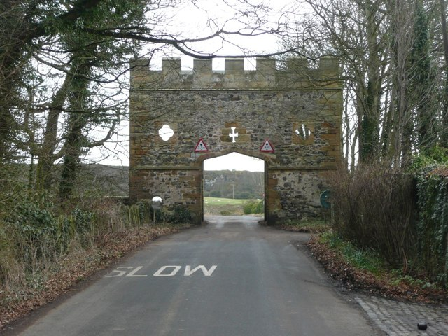 Gateway near Craster Tower