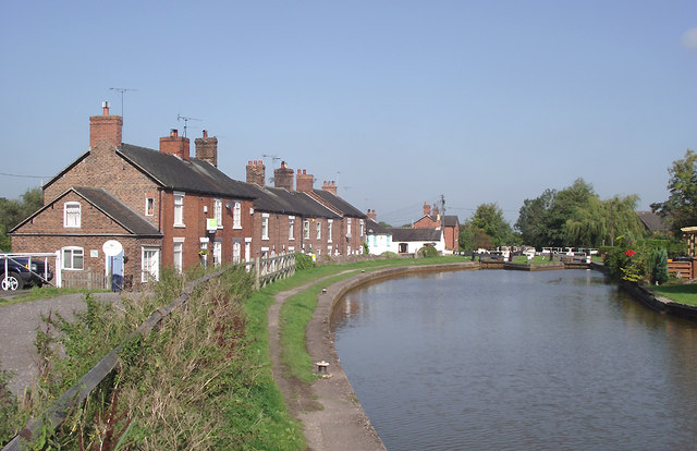 Trent and Mersey Canal at Thurlwood, Cheshire