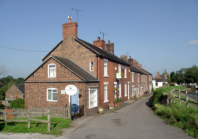 Terraced housing at Thurlwood, Cheshire