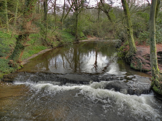 River Bollin at Giant's Castle Rocks