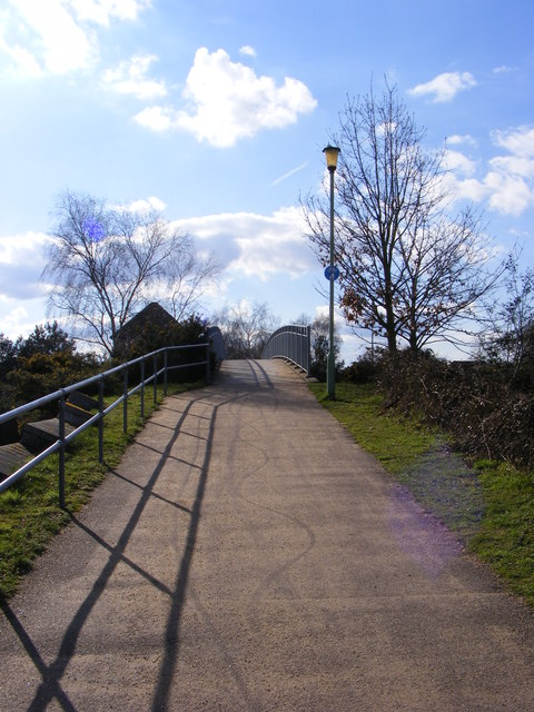 Footbridge over the A12 Martlesham Bypass