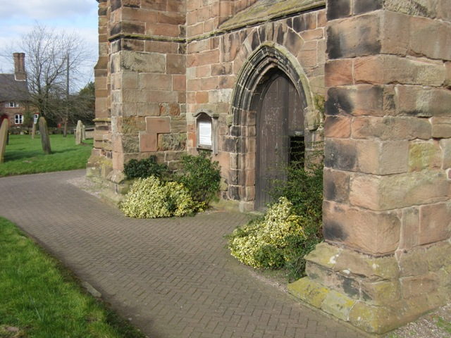 The west door of St Boniface's church