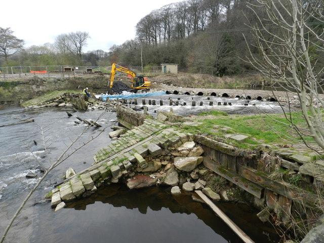Chadkirk Weir, repairs