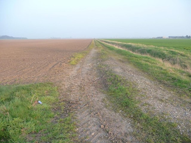Farm track at 3 metres above sea level