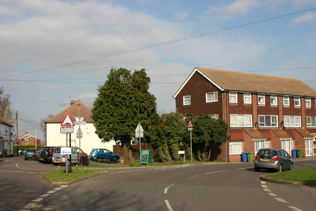 Junction of The Street (left) & Forge Lane (right), Upchurch