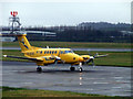 NS4866 : Air Ambulance aircraft at Glasgow Airport by Thomas Nugent