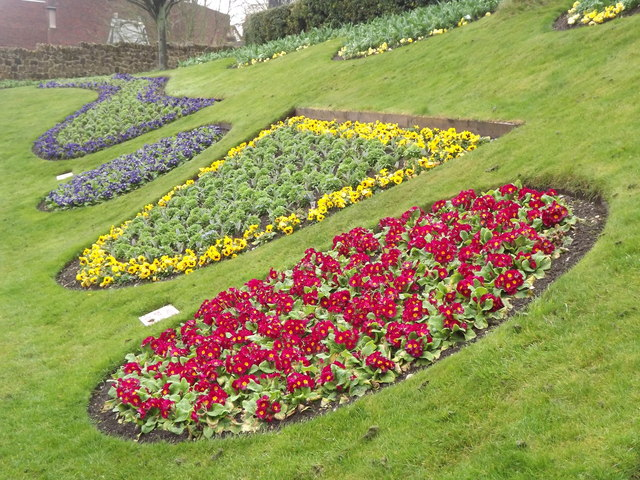 Guildford Castle Flowerbeds