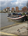 TQ2676 : Barge at Battersea by Derek Harper