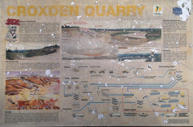 Croxden Quarry explanation board