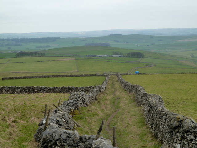 Limestone Way heads downhill