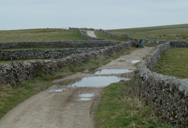 Moorland track and limestone walls