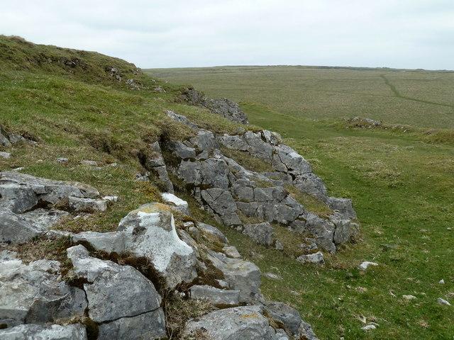 Small limestone outcrop, Eldon Hill