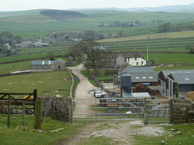 Looking down Eldon Lane to Peak Forest