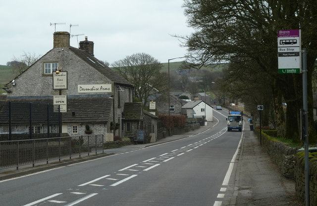 A623 through Peak Forest village