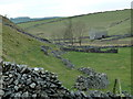SK1178 : Dam Dale footpath and barn by Andrew Hill