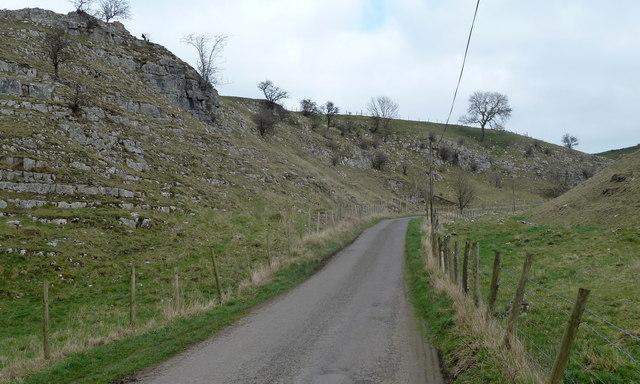 Lane towards Wheston