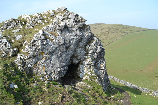 Limestone cave on Chrome Hill