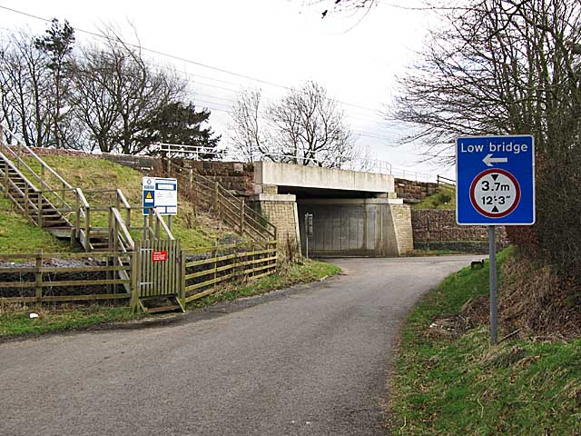 Railway bridge and road junction near Symington