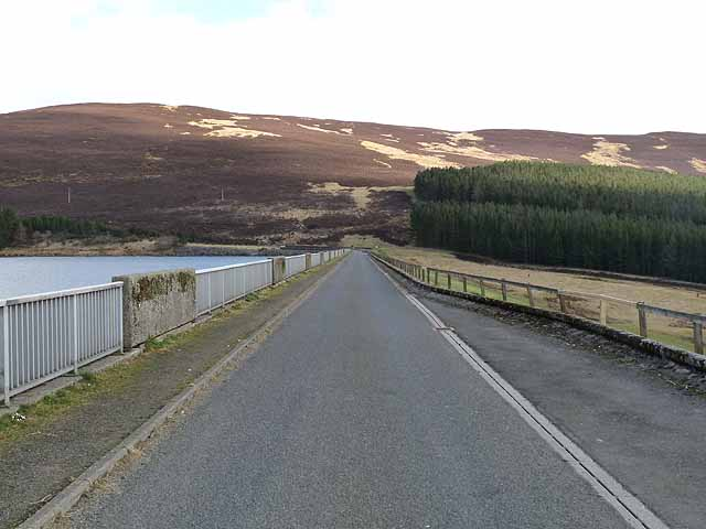 Road across the dam top, Backwater Reservoir