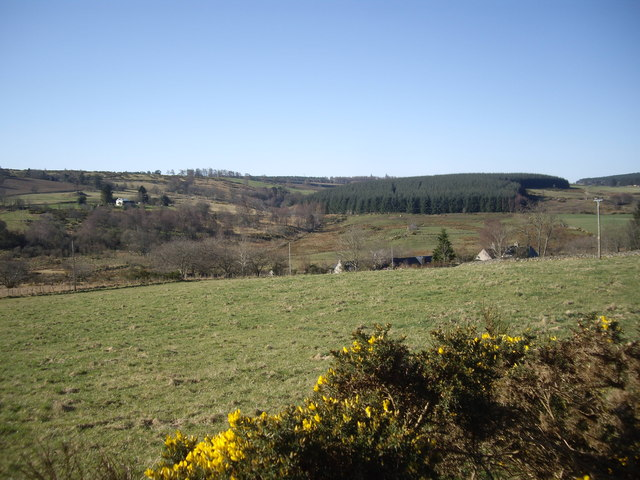 View over Rough Haugh roofs