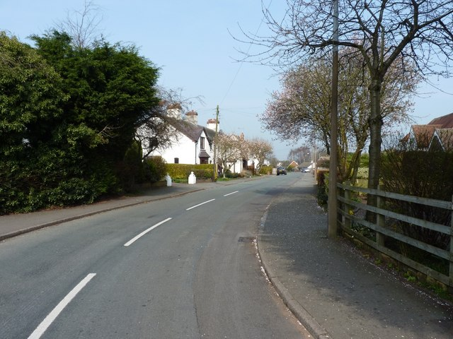 Looking north along Marsh Lane, Penkridge