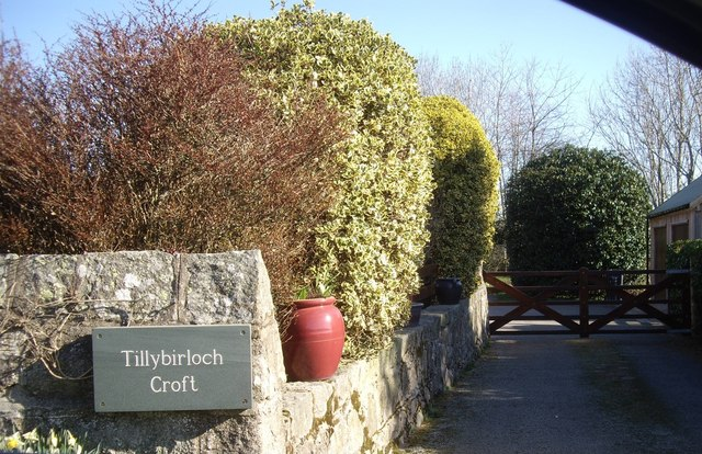 Entrance to Tillybirloch Croft