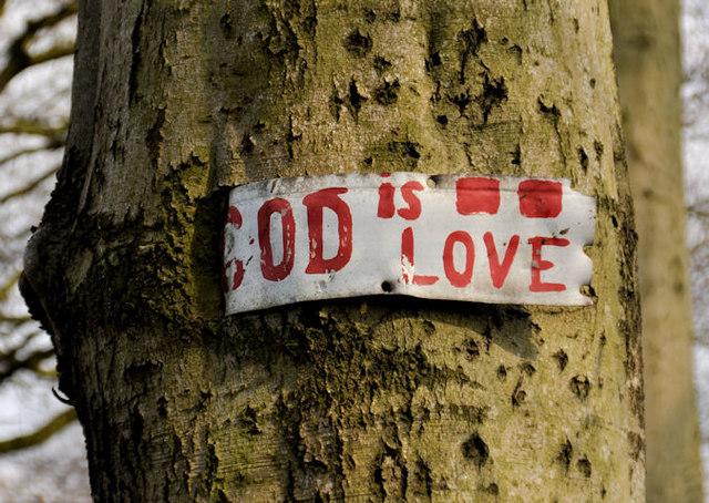 Religious message, Seymour Hill, Dunmurry