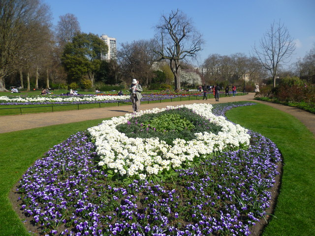 Floral display in The Rose Garden, Hyde Park