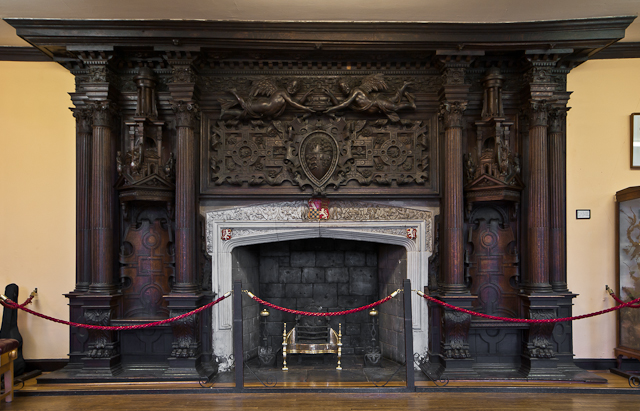 Fireplace, Holbein Hall, Reigate Priory © Ian Capper cc-by ...