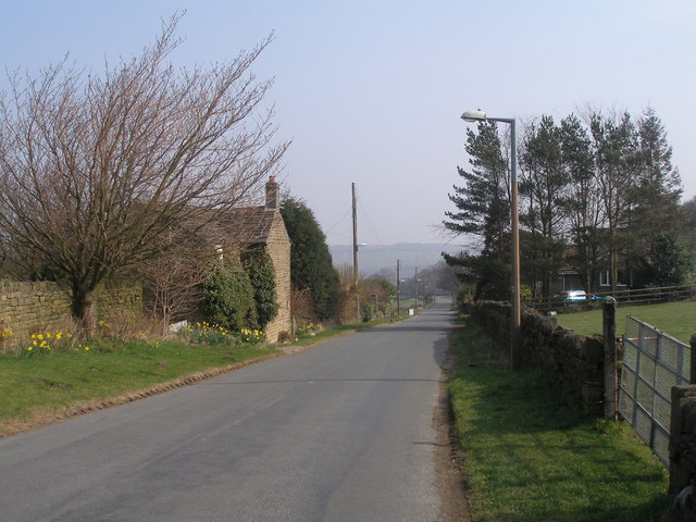 Green Moor Road, looking east