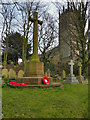 SJ6886 : St Mary's Church Tower and War Memorial by David Dixon