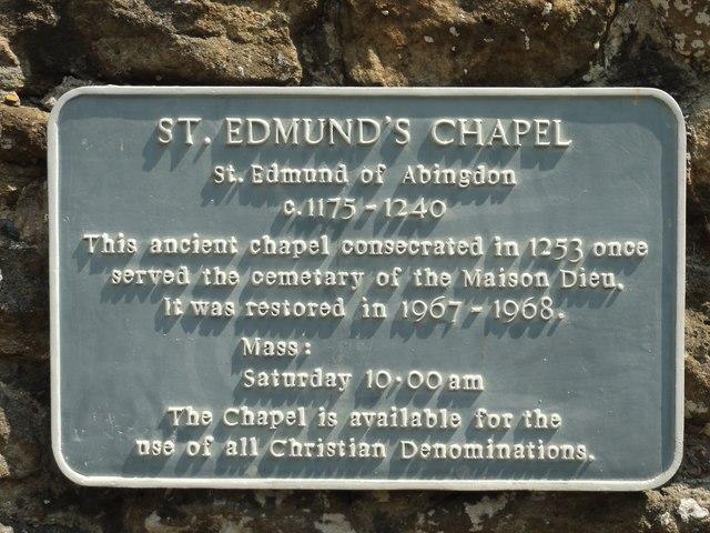 Dover, St Edmund's Chapel