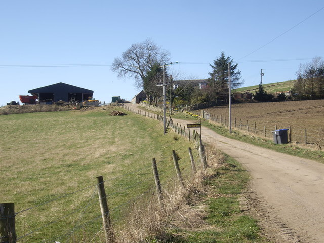 Access to Auchorrie (sic) from B9119