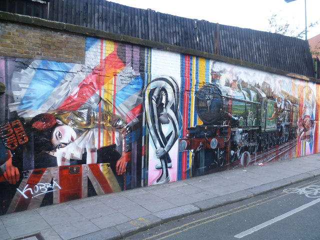 Murals near the Camden Roundhouse