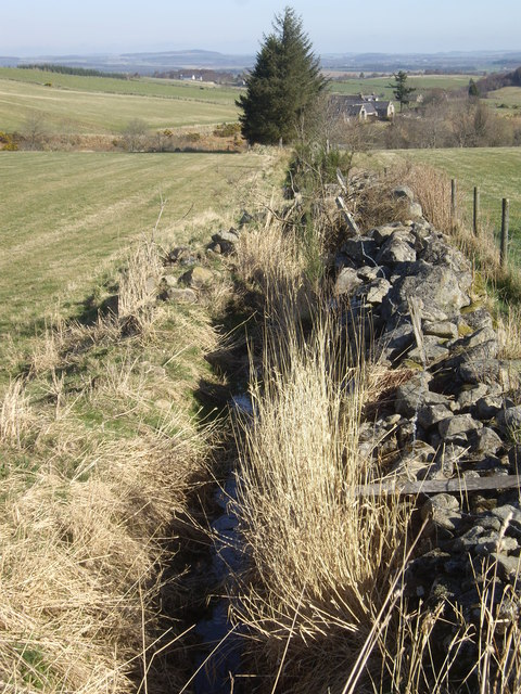 A drain and stone dyke