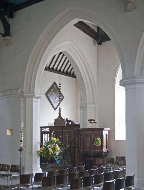 Interior of St Andrew's Parish Church, Farnham