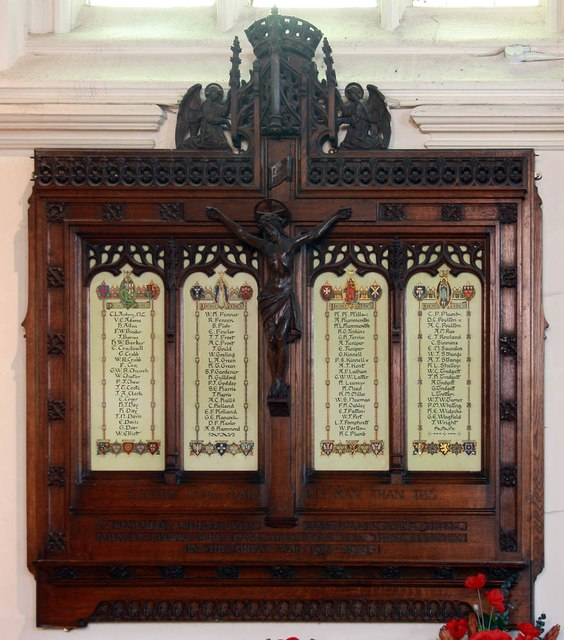 St John the Baptist, Epping - War memorial