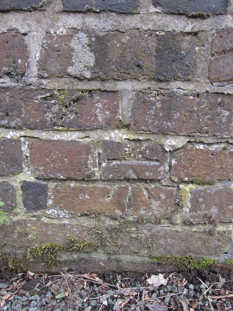 Bench mark on Tilstone Bank railway bridge