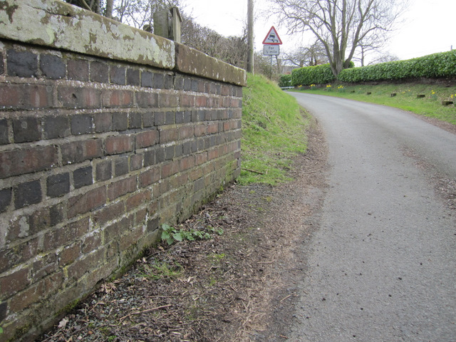 Tilstone Bank railway bridge and a bench mark