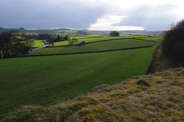 View over farmland from the Tissington Trail