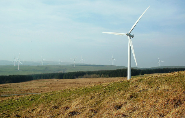Hadyard Hill Wind Farm View